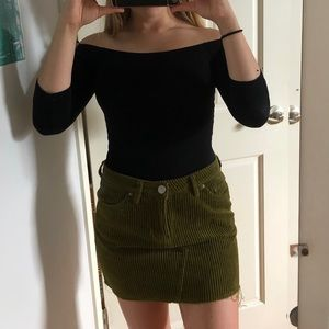 BDG frayed corduroy mini skirt (XS)